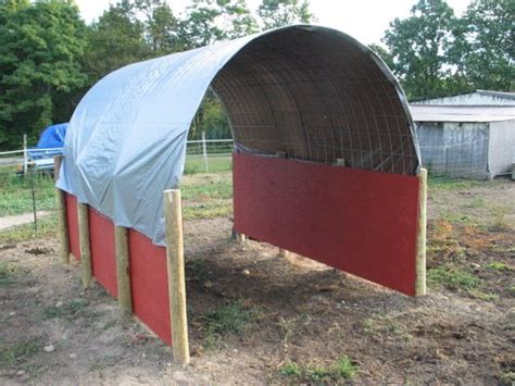 Tarp Sheds by Shelters Made With Cattle Panel Tarp The Goat Spot