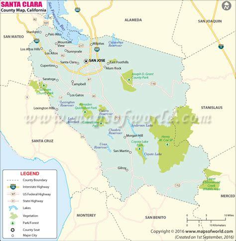 santa clara map santa clara county map of santa clara county california