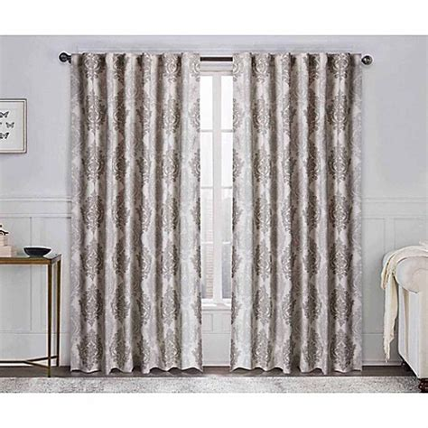 95 inch curtain rod buy vcny legend 95 inch rod pocket window curtain panel in