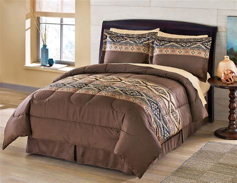 Microfiber Bedding Sets Collections Etc Santa Fe Microfiber Comforter Set 4 Pc Ebay