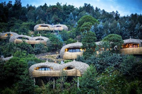 Eco Holidays In Eco Lodges by Stunning Treehouse Retreat In Rwanda Sets A New Standard