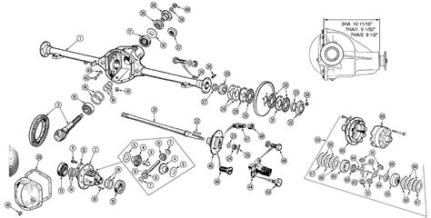 diagram of rear differential front axle and differential exploded view diagram pictures