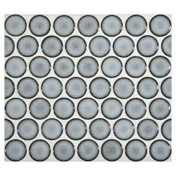 penny tiles: penny round mosaic blue frost gloss complete tile collection