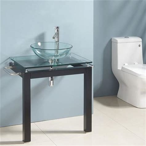 Bathroom Vanities Bowl Sinks by New 29 Quot Modern Glass Bowl Vessel Sink Bathroom Vanity