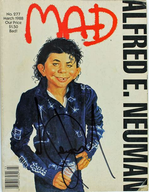 mad magazine lot detail michael jackson signed march 1988 mad magazine