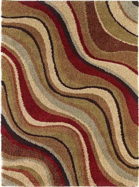 flokati rug 5x7 multi color striped shag flokati area rug 5x7 carpet actual 5 3 quot x 7 3 quot ebay