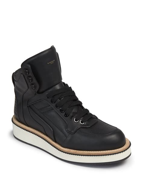 givenchy sneakers givenchy tyson rottweiler leather high top sneakers in
