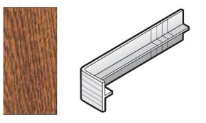300mm Golden Oak Capping Fascia Board Joint Cover
