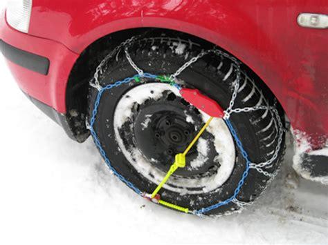 uso de cadenas para nieve como utilizar correctamente las cadenas de nieve
