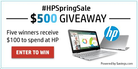 Hp Gift Card Promotion - enter to win 100 visa gift card from hp hpspringsale