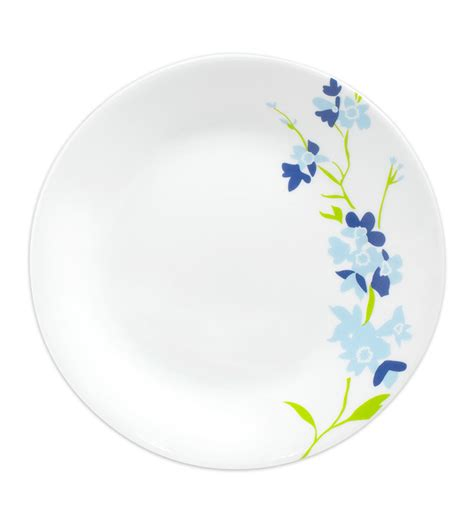Small Cressendo Plate 1 Pcs corelle india collection blue blossom 6 pcs small plate by corelle plates kitchen