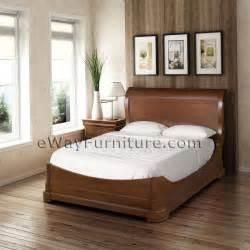 Mahogany Bedroom Sets Solid Mahogany Platform Sleigh Bedroom Set