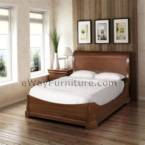 solid mahogany platform sleigh bedroom set