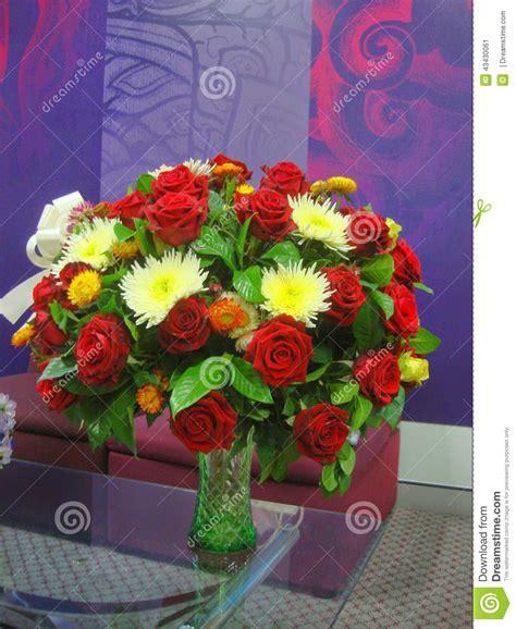 big vase with colourful flowers stock photo image 43430061