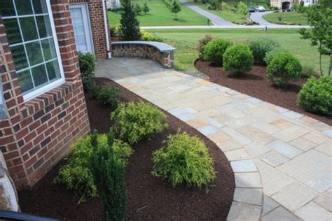 walkway from driveway to front door installed in maryland
