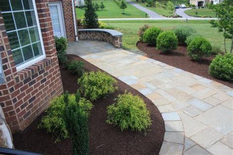 landscaping walkway to front door walkway from driveway to front door installed in maryland