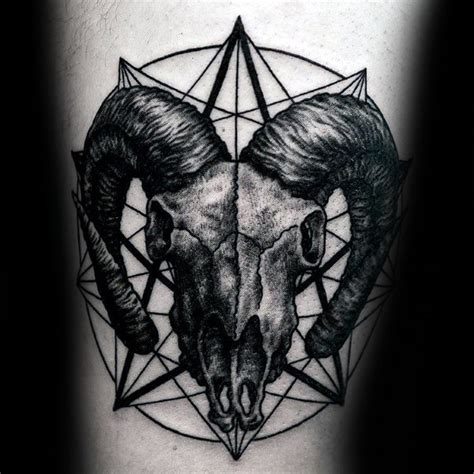 75 aries tattoos for men zodiac ink design ideas