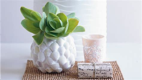 Make A Vase Into A L by How To Make A Shell Vase