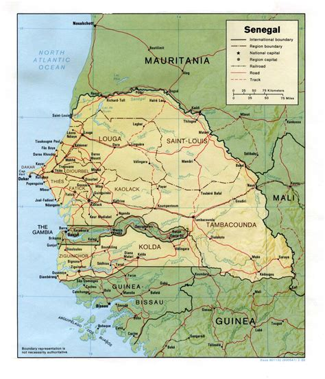senegal map senegal maps perry casta 241 eda map collection ut library