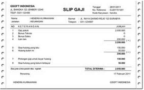 contoh cara membuat format slip gaji upah dan sistem
