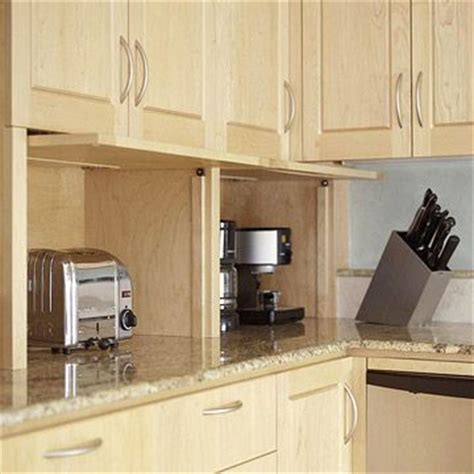 Countertop Appliance Storage by Appliance Garage Countertops And Small Kitchens On