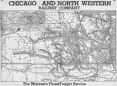 chicago railroad map the chicago and western railway