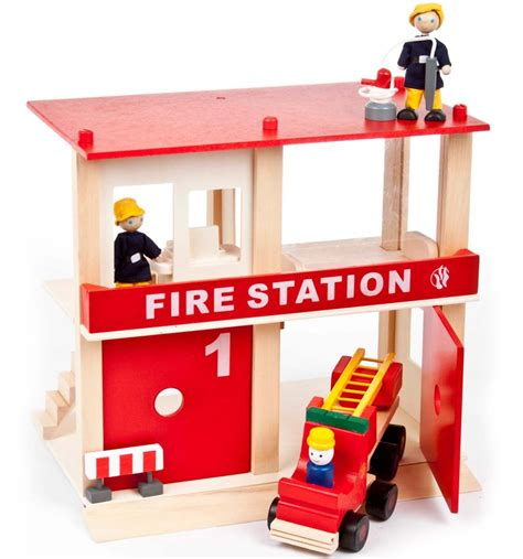 fire station recliners wooden fire station with people truck engine furniture
