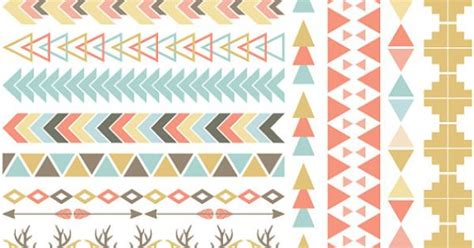 tribal pattern room tribal pattern borders clipart commercial use vector