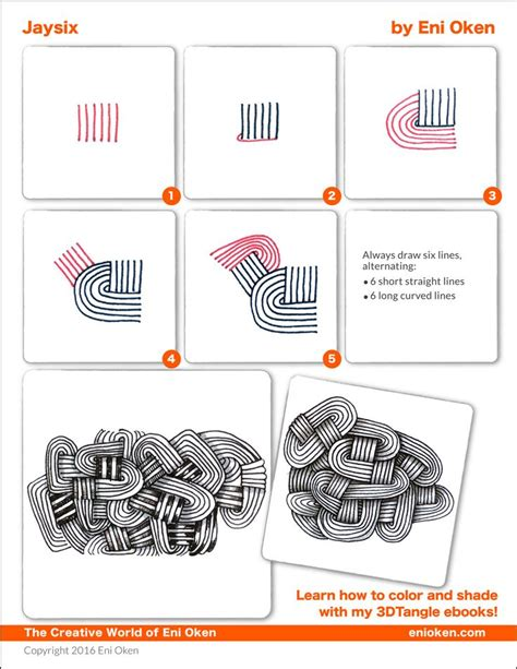 how to draw a tangle doodle part 3 learn how to shade zentangle 174 with eni oken enioken