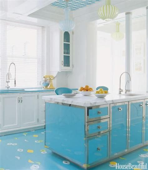 kitchen bright bright blue kitchen floors style at home