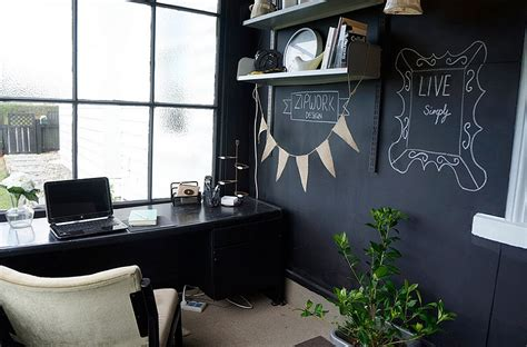 picture of smart chalkboard home office decor ideas