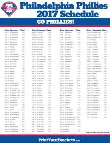 phillies home schedule printable philadelphia phillies baseball schedule 2017