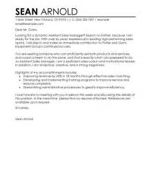 leading professional assistant manager sle cover letter