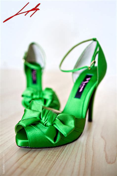 Wedding Shoes Green by Green Satin Peep Toe Ankle Wedding Shoes A