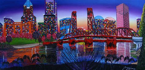 portland city lights 36 painting by portland creations