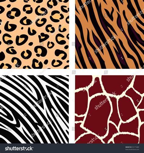 pattern illustrator tiger animal pattern tiger zebra giraffe leopard stock vector