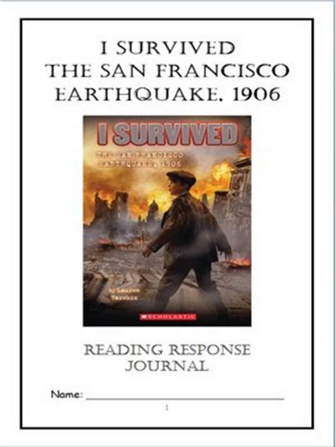 earthquake journal pdf i survived the san francisco earthquake 1906 tarshis