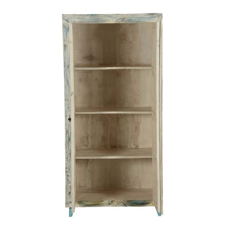 White Freestanding Wardrobe White Washed Reclaimed Wood 70 Quot Freestanding Wardrobe Cabinet