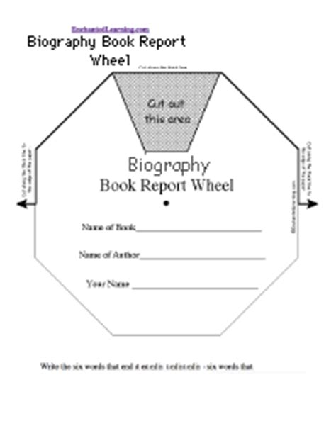 graphic organizer for biography book report biography book report wheel top printable worksheet