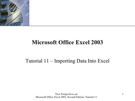 tutorial excel slideshare tutorial 11 importing data into excel