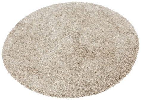 stylische runde teppiche hochflor teppich 187 denver 171 merinos rund h 246 he 50 mm