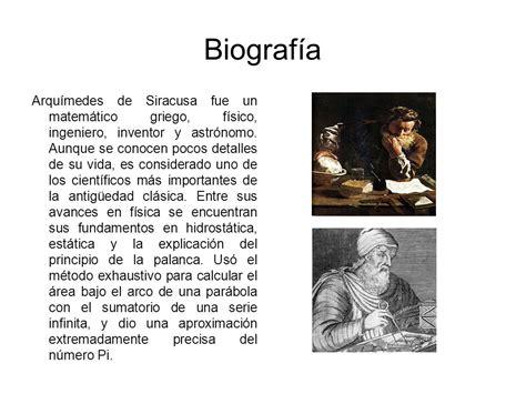 arquimedes de siracusa biografia de arquimedes arqu 237 mides arqu 237 medes ppt