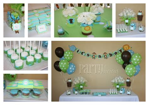 boy baby shower colors safari baby shower project nursery