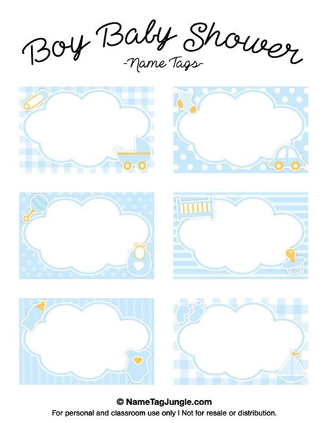 Baby Shower Place Cards Template by Free Printable Boy Baby Shower Name Tags The Template Can