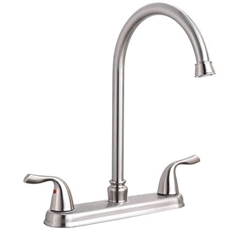 industrial kitchen faucets stainless steel hotis commercial two handle lever stainless steel kitchen sink faucet brushed ebay