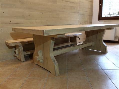 tavolo rustico tavoli in legno naturale fadini mobili cerea verona