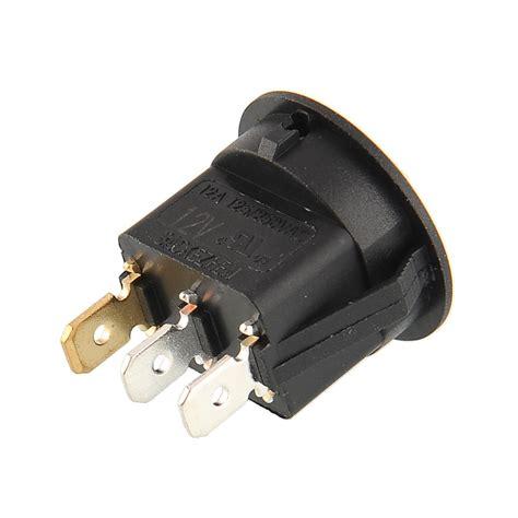 Barang Asli 12v Car Dot Blue Led Light Power Rocker Toggle Switc oem led lighted dot illuminated rocker switch 19mm on