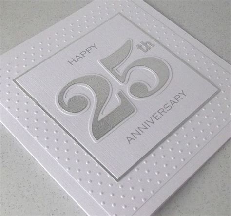 Handmade Greeting Cards For 25th Wedding Anniversary