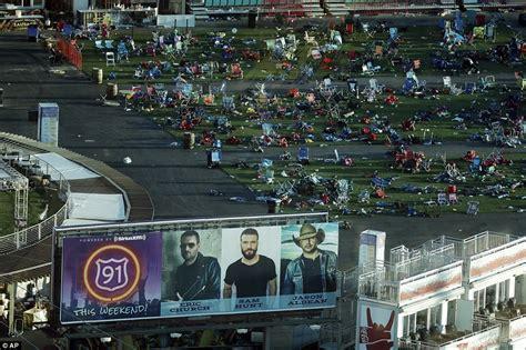 las vegas shooting update today las vegas concert field filled with debris after
