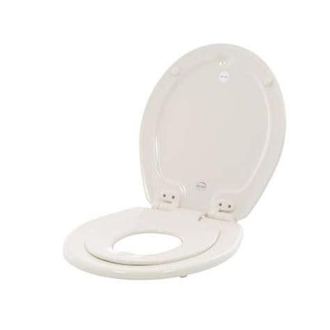 bemis nextstep closed front toilet seat in biscuit